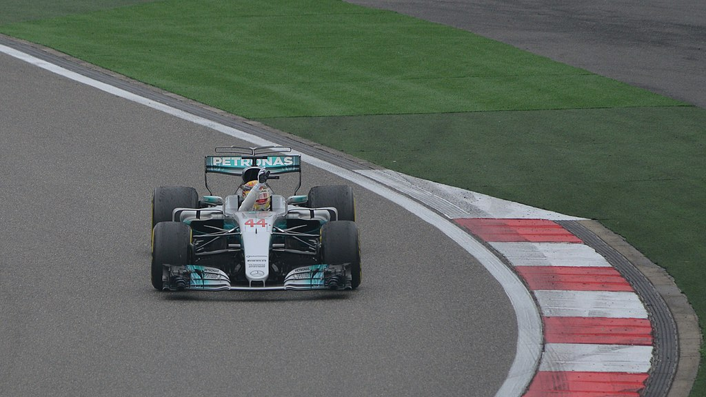 Lewis Hamilton celebrates another victory in 2017
