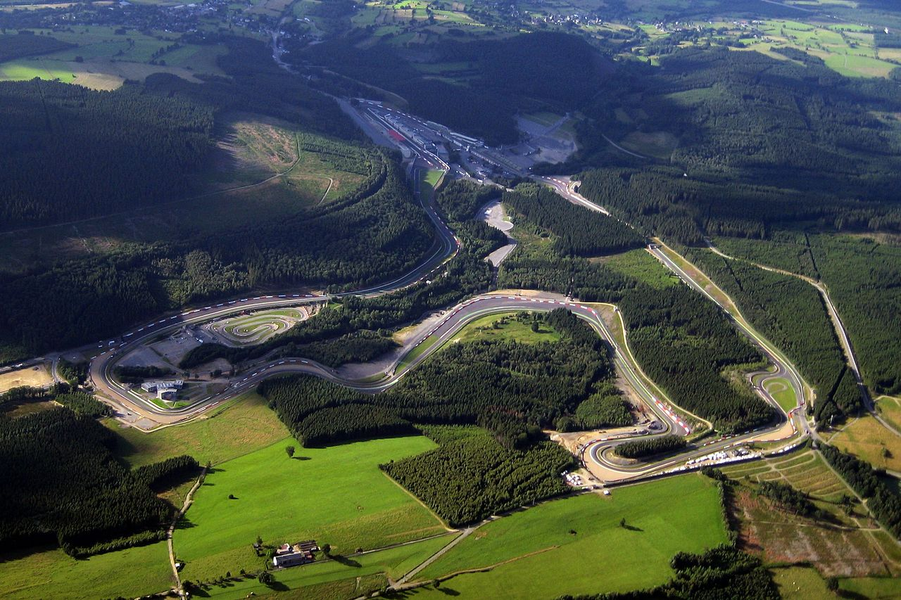 The Spa-Francorchamps Formula One circuit